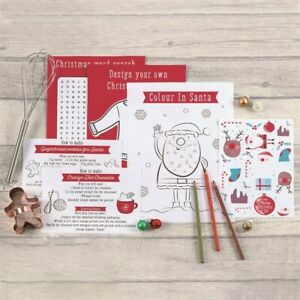 Christmas Activity Set, Xmas Eve Box Pack, Children's Activity Book, Colouring