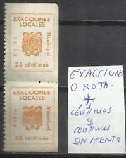 5750-2 ERRORES SELLOS FISCALES EXACCIONES LOCALES céntimos y centimos +O ROTA