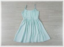 * Divided H&M * hübsches Träger Kleid Chiffon Spitze * in zart Grün * Gr. 34