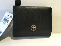 Giani Bernini Soft Core Small Trifold Black Leather Wallet  AA01-001