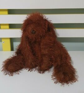 BOYLE DOG TOY BEANS INSIDE BROWN DOG FLOPPY STUFFED ANIMAL 20CM SEATED