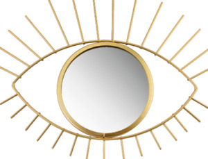 Sass & Belle Gold Tribal Eye See You round Hanging Mirror Decoration