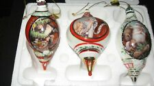 Bradford Exchange Santa Millennial Heirloom Porcelain Ornament Second Issue Coa