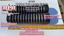 BLACK 30mm Rubber Fork Boots Sleeves Gator Gaiter @ Yamaha BW200 BW350 TW200 ++