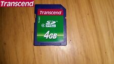 2x 4GB SD SDHC Transcend Class 4 Memory Card New But Unsealed Memory Card