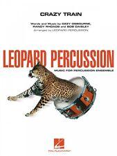 Crazy Train Leopard Percussion Leopard Percussion Ensemble Book New 004005014