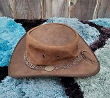 Barmah hat, leather Australian bush style hat