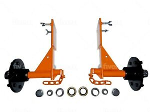 """Shipping Container Wheels """"Hubs & Hooks"""" Heavy Duty - Move 20+40ft Container"""