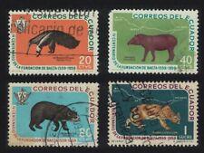 Ecuador Anteater Black Bear Tapir Pima 4v 1960 Canc Sg#1160-1163