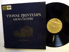 YVONNE PRINTEMPS Sacha Guitry VOIX ILLUSTRES LP classical vocal recital   #331