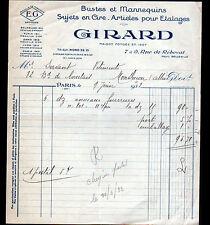 "PARIS (XIX°) BUSTES & MANNEQUINS en cire ""E.G / GIRARD"" en 1932"