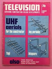 TELEVISION (Practical) - August 1971 - Scope Dual-Trace Unit - Magazine