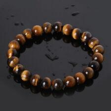 Bracelet en pierre naturelle oeil de tigre, perles de 8 mm, diam : 5,5 cm, neuf