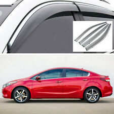 Car Window Visor Vent Deflector Sun/Rain Guard Set for Kia Forte Sedan 2014-2018