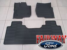 15 thru 17 F-150 OEM Ford Tray Style Molded Floor Mat Set 3-pc EXTENDED CAB