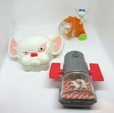 Animaniacs Pinky And The Brain Toy Figure Lot of 3
