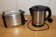 Electric Low Watt 1L Swiss Luxx Stainless Kettle AND Toaster Caravan Motorhome