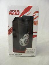 "Disney Star Wars BB-8  6"" Ceramic Travel Lidded Mug Sliding Plastic Lid Black"