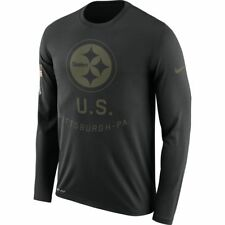f8e95f9c6 Nike Pittsburgh Steelers 2018 Salute to Service Legend T-shirt Mens Size L