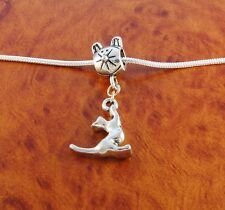Kitty cat charm cat bead for silver European charm bracelet or necklace