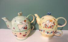 Fabulous NEW Set of 2 MESA INTERNATIONAL Tea for One ANGEL Teapot & Cup Sets