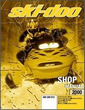 2000 Ski-Doo Grand Touring Formula III Mach 1 Z R Service Repair Shop Manual CD