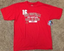 New With Tags! Men's Joe Montana T-Shirt Pro Football Hall Of Fame Large NFL