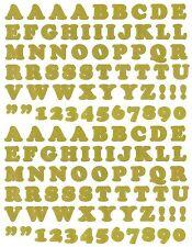 SRM Press Gold Dot Alphabet ABC Numbers 123 Scrapbook Stickers 2 LARGE Sheets!