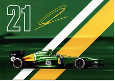 CATERHAM F1 TEAM 2012/13 - Van Der Garde driver info card + blank VIP menu card
