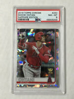 SHOHEI OHTANI 2019 Topps Chrome SAPPHIRE RC CUP SP #250! PSA NM-MT 8! ANGELS!
