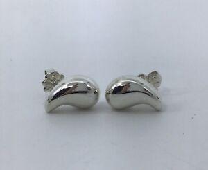Tiffany & Co. Elsa Peretti Sterling Tear Drop Stud Earrings