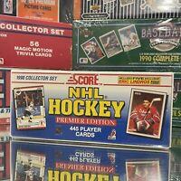 1990 Score NHL Hockey Premier Edition 445 Cards Box Set Factory Sealed