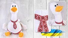 Ukrainian Soft Plush Toy Goose Vyshyvanka Souvenir Traditional Embroidered Shirt