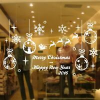 Large Size Christmas Decoration Vinyl Wall Stickers / Shop Window Xmas