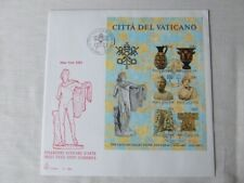 VATICAN CITY 1983 ART EXHIBITION MINI SHEET ON FIRST DAY COVER