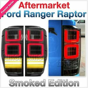 NEW Smoke Sequential LED Tail Rear Light Lamp For Ford Ranger Raptor T6 PX Tunez