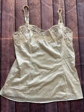 Vtg Wonder Maid Non Cling Camisole Ivory Lace Adjustable Strap USA Size 34 ILGWU