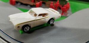 69 GTO Judge HO slot car Dash White T-jet 500 Chassis Custom Wheels