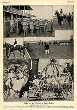 Bilder von der Festwoche in Baden-Baden Momentaufnahmen von 1900