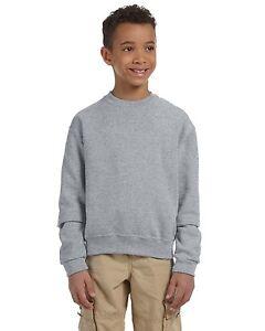 Fruit Of The Loom Boys Youth Fleece Crewneck Sweatshirts Pullover Color & Size