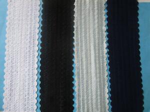10m/3m/1m Spitze Borte Weiß Schwarz Blau Eisblau 6,3cm elastisch stoff ab1€! DL