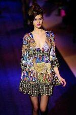 BETSEY JOHNSON RARE BAMBI DEER Runway SHOW DRESS size 6 M