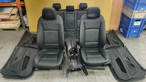 BMW 5 F10 520D 530D 2010-2013 BLACK LEATHER HEATED SEATS & DOOR CARDS & ARM REST