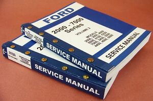 FORD 2000-7000 SERIES TRACTOR SERVICE REPAIR SHOP MANUAL NEW PRINTED SET 944pg