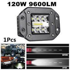 120W 9600LM Spot Flood LED Work Light Car Truck Off-Road Lamp Flush Mount Bumper