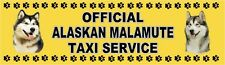 Alaskan Malamute Official Taxi Service Dog Car Sticker by Starprint