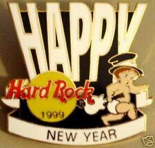 Hard Rock Cafe ONLINE 1999 Happy New Year Baby Guitar PIN ON-LINE - HRC #2833