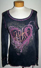 Macy's Susan G Komen Breast Cancer Foil Tattoo Heart Tee Shirt Top Size Medium