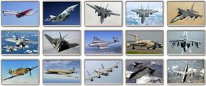 FRIDGE MAGNET - ICONIC AIRCRAFT (Various Designs) - Large Planes Airplane