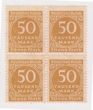 (GC-21) 1923 Germany 50T brown 4block (E) MNG